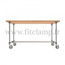 Table standard en structure tubulaire B34 acier galvanisé