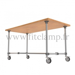 B34 Standard table in tubular structure: Industrial style. FitClamp