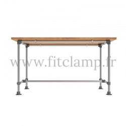 B34 Reinforced table in tubular structure: Industrial style. FitClamp
