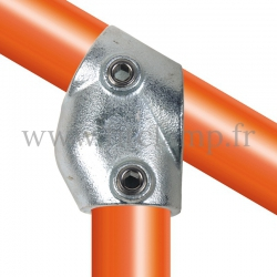 Tube clamp fitting 129 for tubular structures: Adjustable short tee 30- 60° clamp. Easy to install. FitClamp