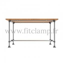 Table renforcée en structure tubulaire D48. Acier galvanisé. FitClamp