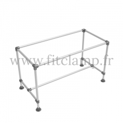 D48 Reinforced table in tubular structure: Industrial style. Quick and easy assembly with an Allen key