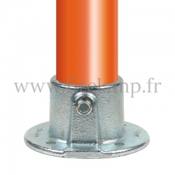 Tube clamp fitting 131 for tubular structures: Base flange. Put together your tubular structure with ease.