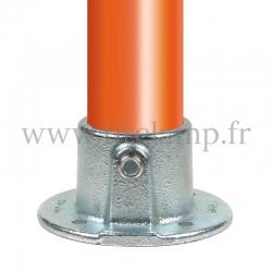 Raccord tubulaire Platine de fixation (131) pour un assemblage tubulaire. Compatible pour fixer 1 tube