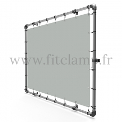 18 cm elastic tensioner, bungee cords, with hook. For tension display banner 03.
