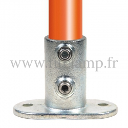 Tube clamp fitting 132: Railing base flange for tubular structures. Easy to install