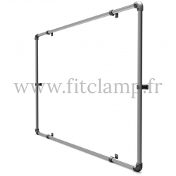 25 cm elastic tensioner with hook. Bungee cords. For display banner frame 01.
