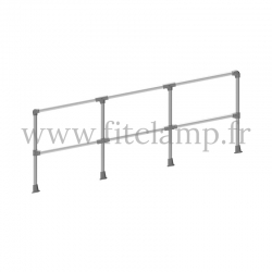 Angled barrier post 0-11° - Extension: C42 tubular structure. No welding required.