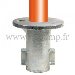 Raccord tubulaire Piètement encastré (134) pour un assemblage tubulaire