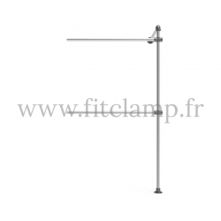 Tubular double wall-mounted clothes rail extension