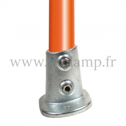 Tube clamp fitting 152 for tubular structures: Railing base flange 0 -11°. Easy to install
