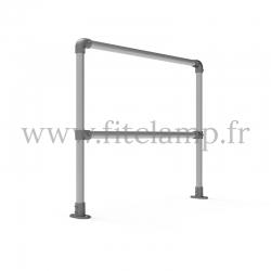 Barrière droite D48 simple - Structure tubulaire en acier galvanisé. FitClamp
