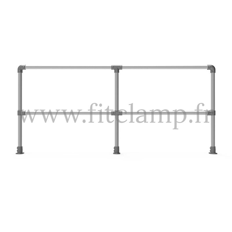 Upright tubular barrier - Double: D48 tubular structure. FitClamp