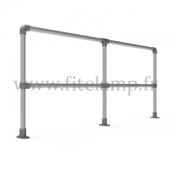 Upright tubular barrier - Double: D48 tubular structure