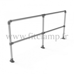 Upright tubular barrier - Double: D48 tubular structure. Assembled with a simple Allen key