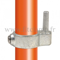 Tube clamp fitting 140 for tubular structures: Gate hinge. easy to install