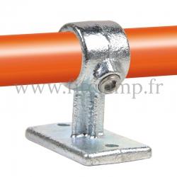 Raccord tubulaire Patte de fixation traversante (143) pour un assemblage tubulaire. Double galvanisation