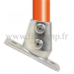 Tube clamp fitting 252Z: Slope base flange for tubular structures. Suitable for joining 1 tube