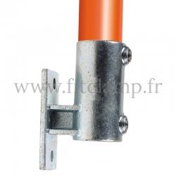 Raccord tubulaire Patte de fixation avec platine Vertical (144) pour un assemblage tubulaire. Double galvanisation