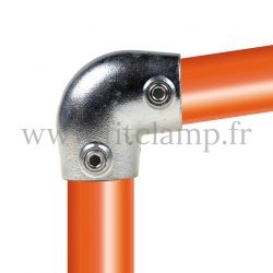 Tube clamp fitting 154 for tubular structures: Short tee 0-11°. Easy to install