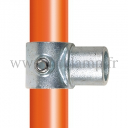 Tube clamp fitting 147 for tubular structures: Internal swivel tee. Easy to install.