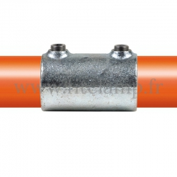 Tube clamp fitting 149 for tubular structures: External sleeve joint. with double galvanized protection.