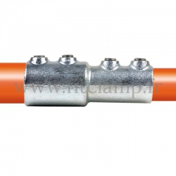 Tube clamp fitting BA-149  for tubular structures: External reducing sleeve clamp. Easy to install. Fitclamp